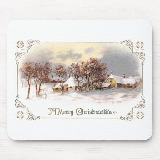 Vintage Country Christmas Mouse Pad