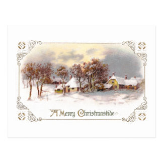 Vintage Country Christmas Postcards