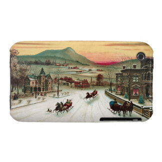 Vintage Country Christmas Scene Case-Mate iPhone 3 Case