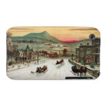 Vintage Country Christmas Scene iPhone 3 Cover