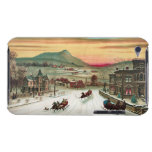 Vintage Country Christmas Scene iPod Touch Covers