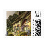 Vintage Country Cottage Bed and Breakfast Inn Postage Stamp