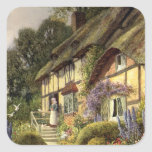 Vintage Country Cottage Bed and Breakfast Inn Square Sticker