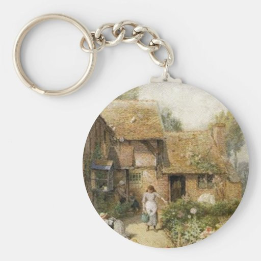 Vintage Country Cottage ~ Chores Keychain