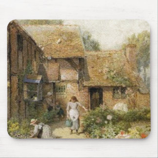 Vintage Country Cottage ~ Chores Mouse Pad
