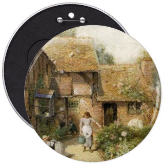Vintage Country Cottage ~ Chores Pinback Button