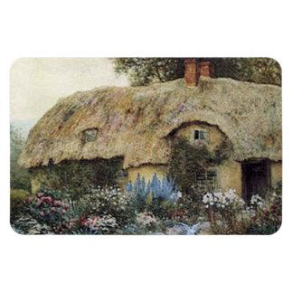 Vintage Country Cottage Garden Flexi Magnet
