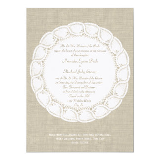 Vintage Country Doily and Burlap Card
