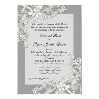 Vintage Country Floral Changeable Color Personalized Invitation