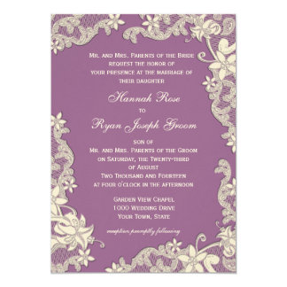 Vintage Country Floral Changeable Color Custom Announcements