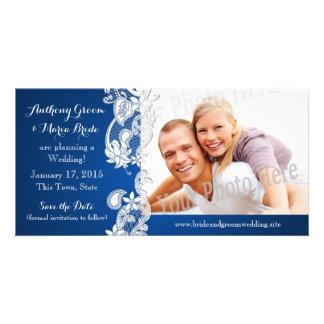 Vintage Country Floral Design Save the Date Photo Photo Card Template