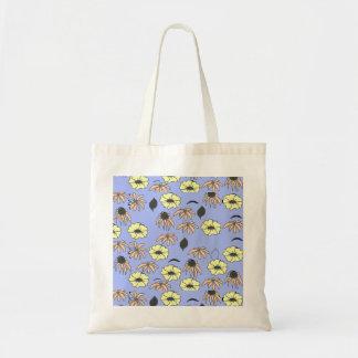 Vintage Country Floral mélange pale blue yellow Tote Bag