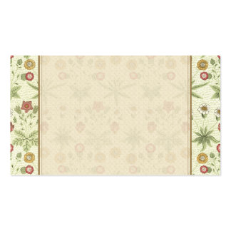 Vintage Country Floral Pattern Double-Sided Standard Business Cards (Pack Of 100)
