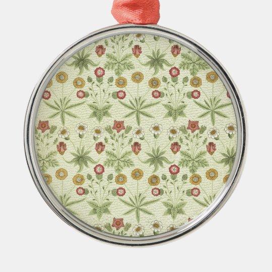 Vintage Country Floral Pattern Metal Ornament