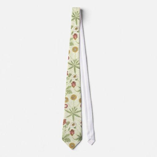 Vintage Country Floral Pattern Tie