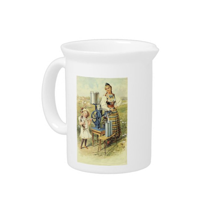 Vintage Country Girls & Cream Separator on Pitcher