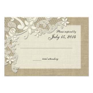 Vintage Country Lace Design and Burlap Invites