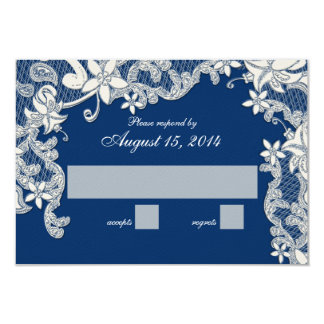 Vintage Country Lace Design Changeable Color RSVP Card