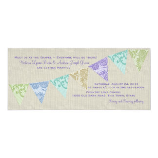 Vintage Country Lace Pennants Card
