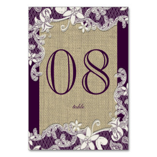 Vintage Country Lace Purple Card