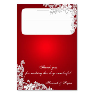 Vintage Country Lace Red Seating Card Table Card