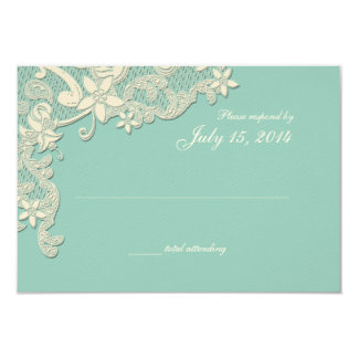 Vintage Country Lace Style Design Response Card