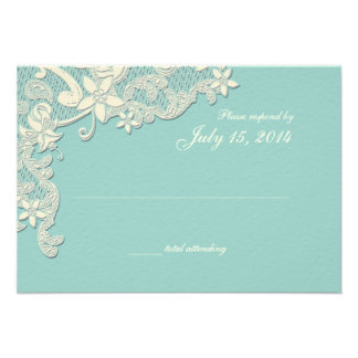 Vintage Country Lace Style Design Response Custom Invitations