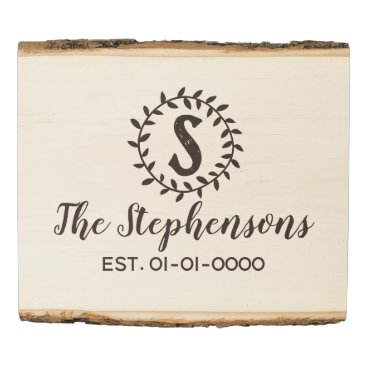 Art Themed Vintage Country Monogram Family Name Wood Sign
