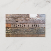Vintage Country Nature Rustic Reclaimed Wood Business Card
