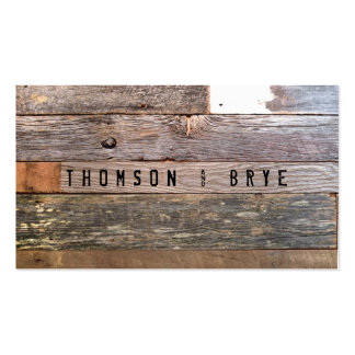Vintage Country Nature Rustic Reclaimed Wood Double-Sided Standard Business Cards (Pack Of 100)