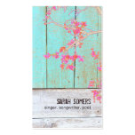 Vintage Country Nature Rustic Turquoise Wood No. 2 Double-Sided Standard Business Cards (Pack Of 100)