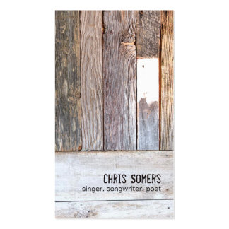 Vintage Country Nature Rustic Weathered Wood Double-Sided Standard Business Cards (Pack Of 100)