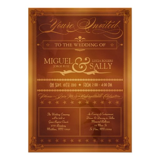 http://custominvitations4u.com/vintage-country-poster-style-wedding ...