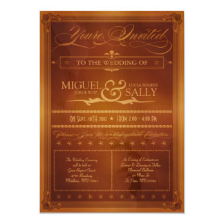 Vintage Country Poster Style Wedding Invitation