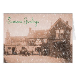 Vintage Country Pub Christmas Card