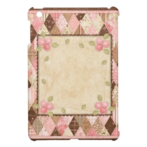 Vintage Country Quilt2 Pink & Brown iPad Mini Case