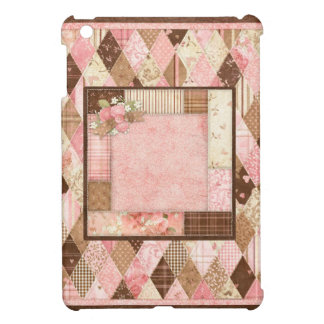 Vintage Country Quilted Pink & Brown iPad Mini Case For The iPad Mini