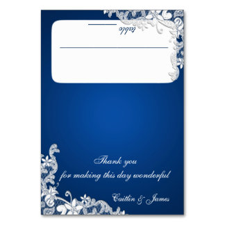 Vintage Country Sapphire Blue Seating Card Table Cards
