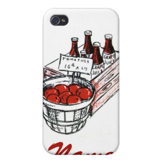 Vintage Country Store Produce Artwork Cases For iPhone 4