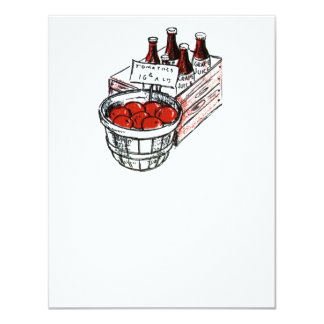 Vintage Country Store Produce Artwork 4.25x5.5 Paper Invitation Card
