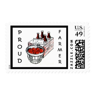 Vintage Country Store Produce Artwork Postage