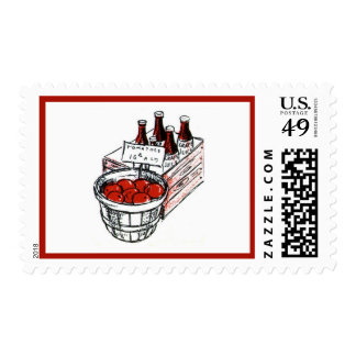 Vintage Country Store Produce Artwork Postage Stamps