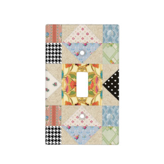Vintage Country Style Evening Star Quilt Pattern Light Switch Plates