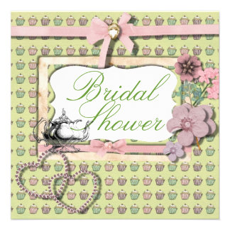 Vintage Country Tea Party Bridal Shower Invitation