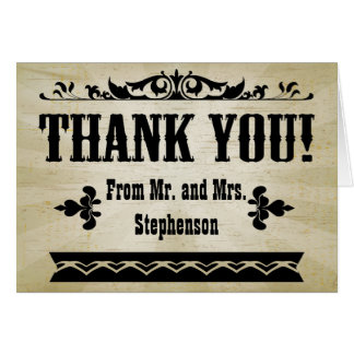Vintage Country Thank You Stationery Note Card