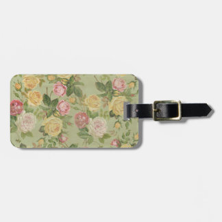 Vintage Country Weathered Floral Bag Tag