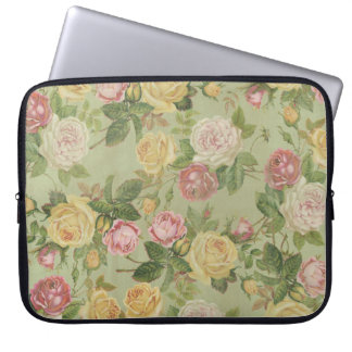 Vintage Country Weathered Floral Computer Sleeve