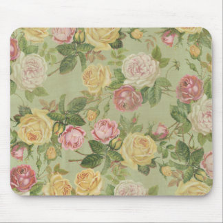 Vintage Country Weathered Floral Mouse Pad