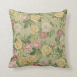 Vintage Country Weathered Floral Throw Pillow