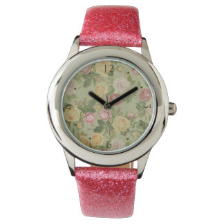 Vintage Country Weathered Floral Wristwatch